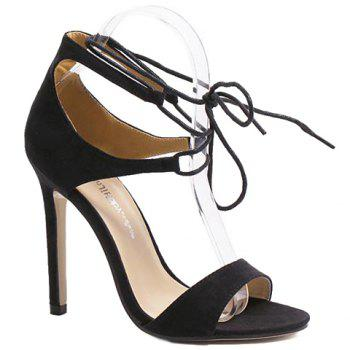 Fashionable Stiletto Heel and Lace-Up Design Women's Sandals