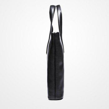 Simple en cuir PU et Porte-documents Black Hommes Design - Noir