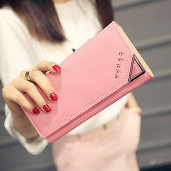Concise Solid Color and Letter Design Women's Wallet - LIGHT PINK LIGHT PINK