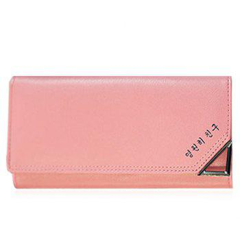 Concise Solid Color and Letter Design Women's Wallet -  LIGHT PINK