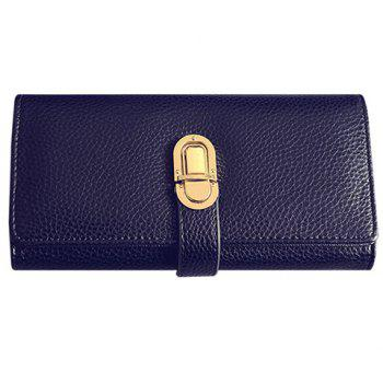 Trendy Solid Colour and PU Leather Design Women's Wallet