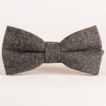 Stylish Men's Dark Color Weaving Double-Deck Bow Tie