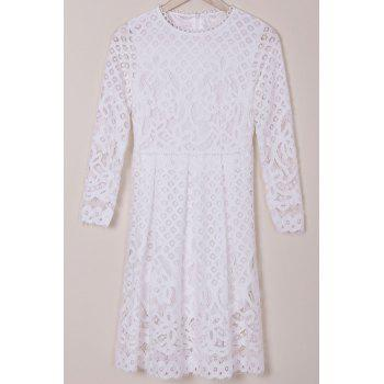 Long Sleeve Lace Hollow Out Dress
