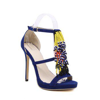Party Colorful Beading and Stiletto Heel Design Sandals For Women