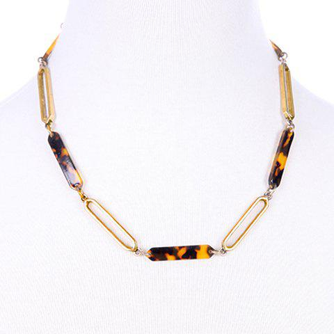 Simple Leopard Pattern Resin Alloy Necklace For Women