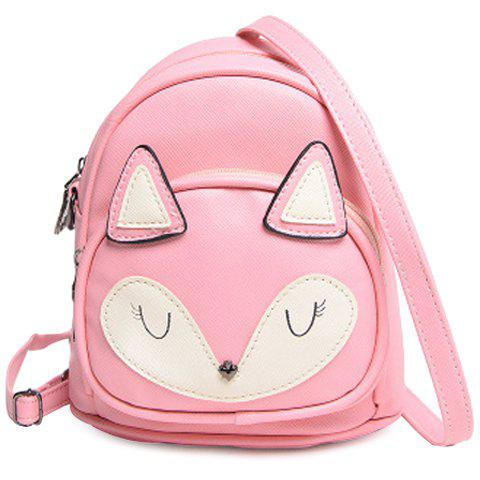 Cute Color Block and Cartoon Design Women's Satchel - PINK