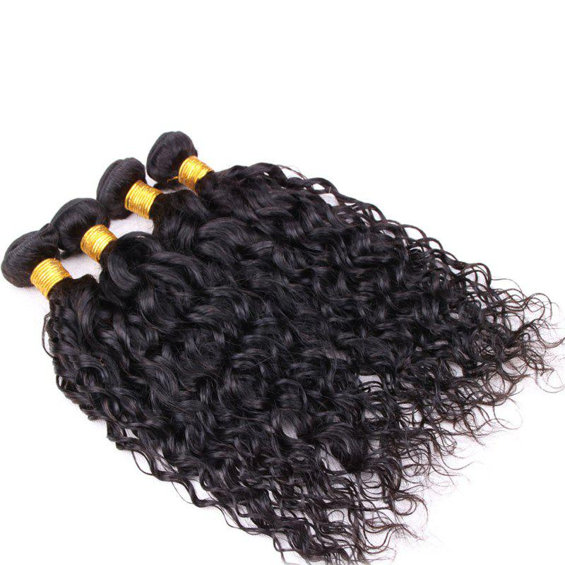 Fluffy Curly Black 6A Virgin Hair 1 Pcs/Lot Brazilian Human Hair Weft For Women - BLACK 14INCH