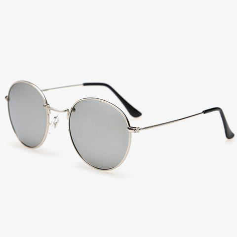 Stylish Full Frame Outdoor Men's Silver Sunglasses - SILVER