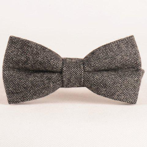 Stylish Men's Dark Color Weaving Double-Deck Bow Tie - DEEP GRAY