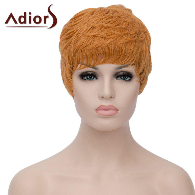 Vogue Ombre Color Adiors Hair Capless Wig Fluffy Short Curly Women's Bump Synthetic Wig - COLORMIX