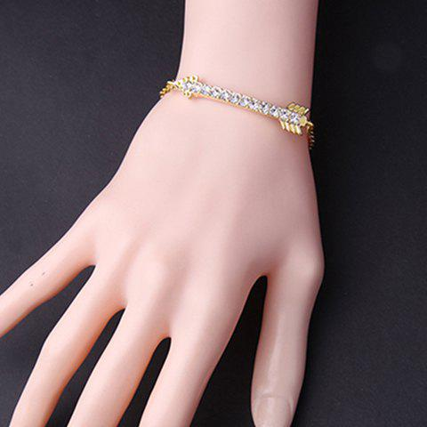 Vintage Rhinestoned Arrow Shape Bracelet - GOLDEN