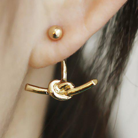 Knot Design Earrings - GOLDEN