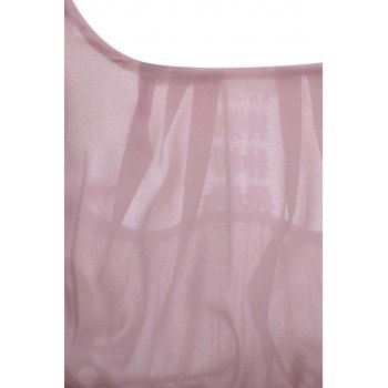 Sweet Spaghetti Strap Asymmetrical Hollow Out Women's Dress - PINK PINK