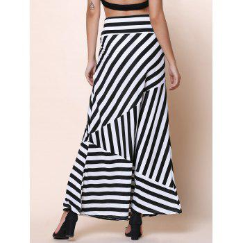 Sexy Mid-Waisted Striped Spliced Women's Skirt