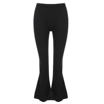OL Style Loose Solid Color Wide Leg Pants For Women