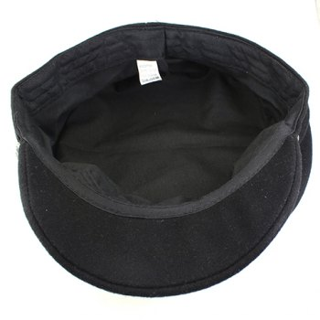 Fashionable Retro Style Solid Color Lace Hem Embellished Cotton Blend Women's Hat -  BLACK