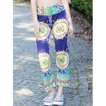 Stylish Mid-Waisted Loose-Fitting Printed Women's Exumas Pants