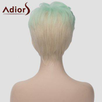 Fluffy Adiors Highlight Heat Resistant Synthetic Short Wig For Women - OMBRE