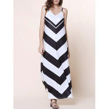 Bohemian Women's Spaghetti Strap Zigzag Dress