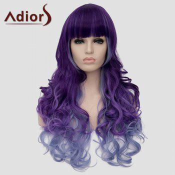 Adiors Heat Resistant Synthetic Full Bang Long Curly Wig For Women - COLORMIX