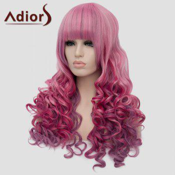 Adiors Fluffy Heat Resistant Synthetic Full Bang Long Wig For Women - COLORMIX