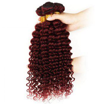 Vogue Dark Auburn 1 Piece/Lot 6A Virgin Hair Shaggy Deep Wave Brazilian Human Hair Weft For Women - WINE RED WINE RED