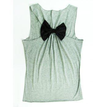 Stylish Scoop Neck Sleeveless Letter Print Bowknot Women's Tank Top
