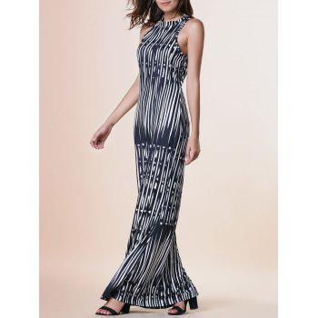 Sleeveless Printed Skinny Maxi Dress