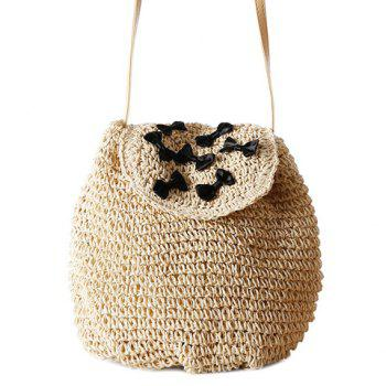 Leisure Bow and Straw Design Women's Crossbody Bag