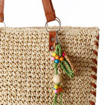 Casual Pendant and Weaving Design Women's Shoulder Bag - OFF WHITE