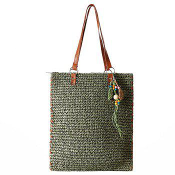 Casual Pendant and Weaving Design Women's Shoulder Bag