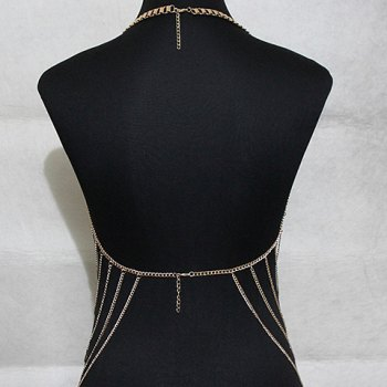 Chic Multilayered Cross Body Chain For Women - GOLDEN