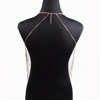 Vintage Layered Alloy Body Chain For Women - GOLDEN