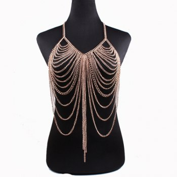 Vintage Layered Hollow Out Body Chain For Women