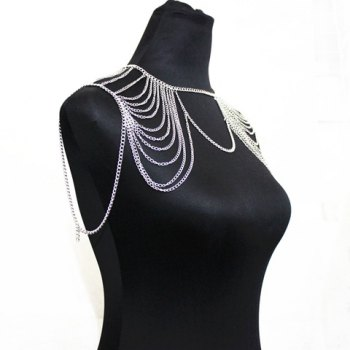 Chic Style Hollow Out Solid Color Body Chain For Women - SILVER