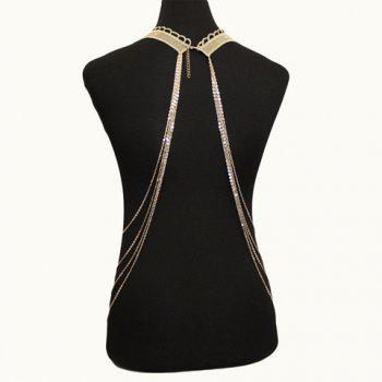 Gorgeous Faux Lace Leaf Body Chain For Women - GOLDEN