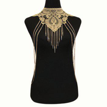 Buy River Tassel Fake Collar Geometric Body Chain GOLDEN
