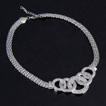 A Suit of Openwork Circle Jewelry Set - SILVER ONE-SIZE