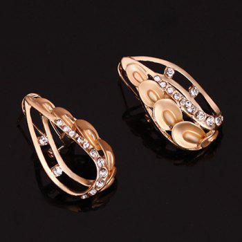 A Suit of Alloy Hollow Out Necklace Bracelet Ring and Earrings - GOLDEN ONE-SIZE