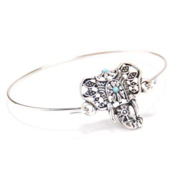 Elephant Head Shape Embellished Bracelet