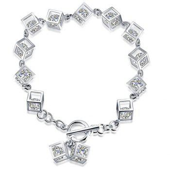 Square Rhinestone Hollow Out Bracelet