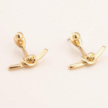 Chic design Knot Simple femmes de boucles d'oreilles en alliage - Or