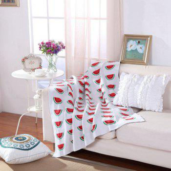 Hot Sale Watermelon Pattern Cotton Knitted Blanket For Child - RED WITH WHITE RED/WHITE