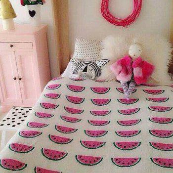 Hot Sale Watermelon Pattern Cotton Knitted Blanket For Child - W51.18INCH*L62.99INCH W51.18INCH*L62.99INCH