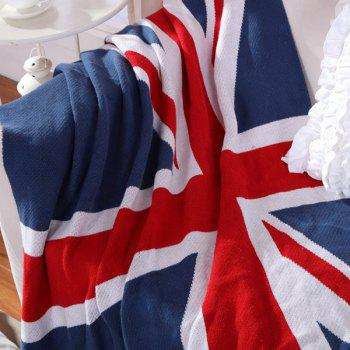 High Quality British Style Union Jack Pattern Cotton Knitted Blanket - W51.18INCH*L62.99INCH W51.18INCH*L62.99INCH
