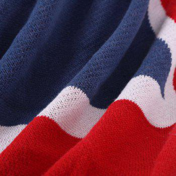 High Quality British Style Union Jack Pattern Cotton Knitted Blanket - COLORMIX COLORMIX
