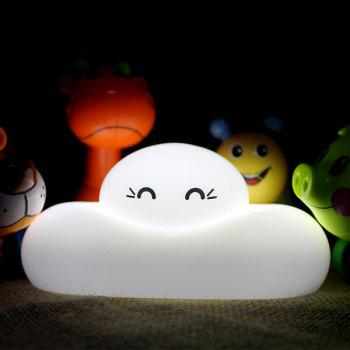 Chic Bedside Lamp Cartoon Cloud Shape Touch Sensing LED Night Light - WHITE