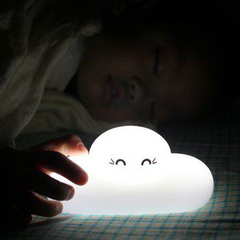 Chic Bedside Lamp Cartoon Cloud Shape Touch Sensing LED Night Light - WHITE WHITE