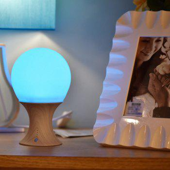 Chic USB Home Decoration Bedside Lamp Mushroom Shape Silicone Led Night Light - BROWN BROWN