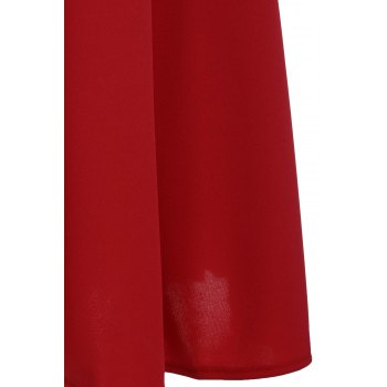 Vintage Pure Color Sweetheart Neck Sleeveless Dress For Women - RED XL